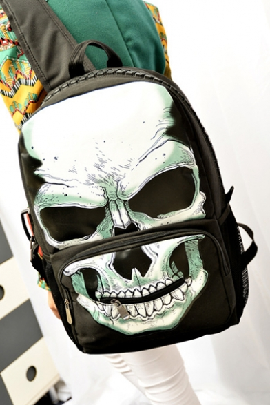 Cool Skull Nylon Laptop Backpack/Laptop Bag/School Bag/Travel Bag