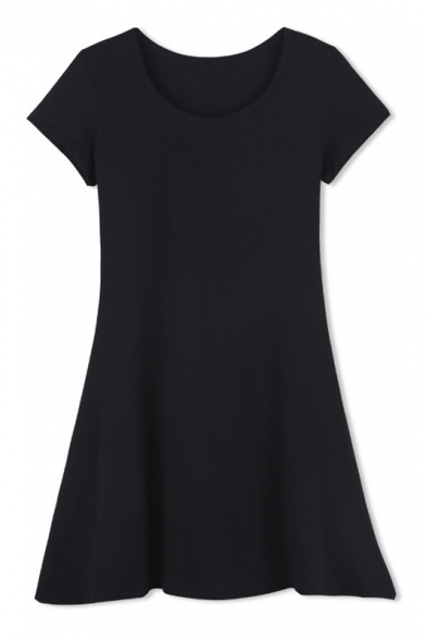 plain black t shirt dress