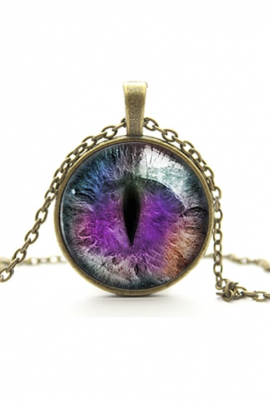 Special Design Galaxy Cat Eye Metal Women's Necklaces
