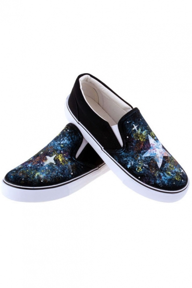 3797a2baa9f ... Cool Hand-Painted Galaxy Canvas Platform Sneakers For Women