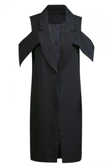 Lapel plain front wrapped outerwear online