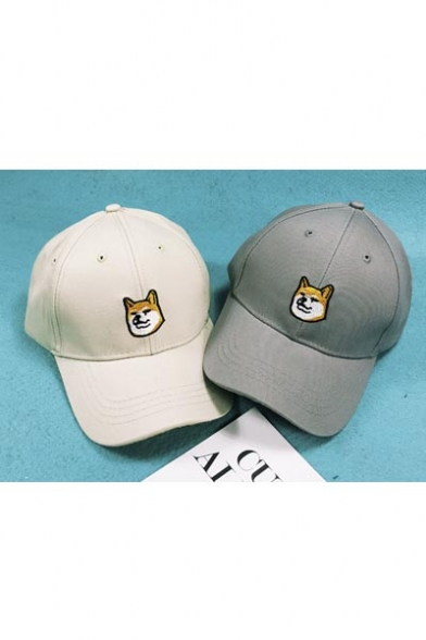 Cute Dog Embellish Outdoor Leisure Fashion Summer Baseball Caps Women  Outdoor Caps ... 76a97d92f7d