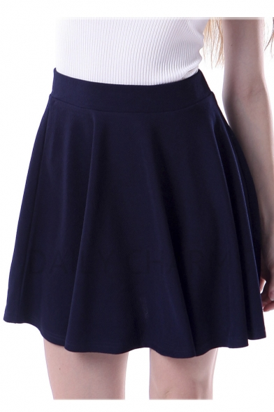 Fashion Women A-line Swing Mini Skirt