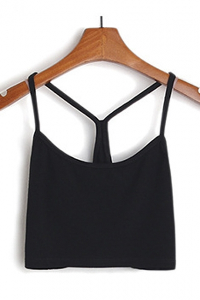 Spaghetti Strap Backless Camisole Top