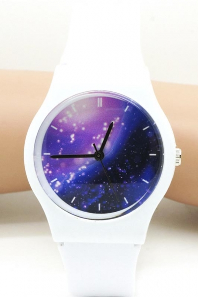 Galaxy Pattern Quartz Water Resistance Watch