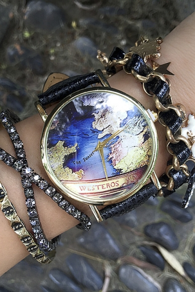 Vintage world map womens watches beautifulhalo vintage world map womens watches gumiabroncs Choice Image