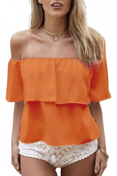 Women Casual Off Shoulder Boho Crop Top Straps Vest
