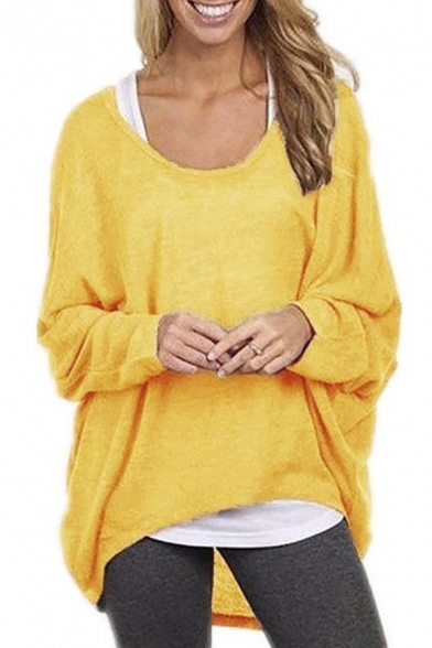 Womens Sexy Casual Oversized Baggy Off-Shoulder Long Sleeve Tops Shirts