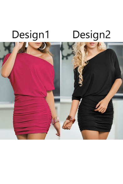 Women's Off Shoulder Short-Sleeve Sexy Dress