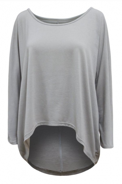 904058b3 ... Womens Sexy Casual Oversized Baggy Off-Shoulder Long Sleeve Tops Shirts