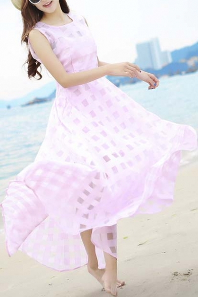 Maxi Casual Slim Women's Party Beach Dresses Long Dress W4AwH8wcq