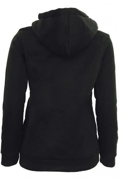 Women's Full Zip-up Hoodie Sweatshirt Top