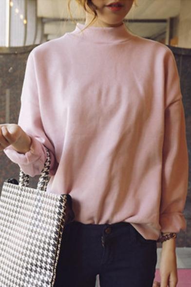 Harajuku Pastel Peach Pink Hoodies Sweatshirts for Women