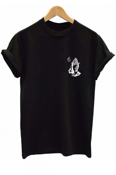 Hot New Release Round Neck Short Sleeve Graphic Tee