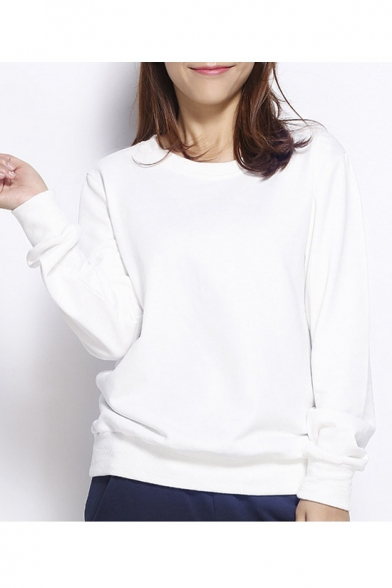 Women's Slouchy Pullover Sweatshirt - Beautifulhalo.com