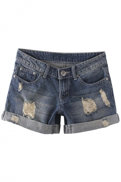 Womens Vintage Low Waist Fringe Denim Shorts Jeans Vary Styles