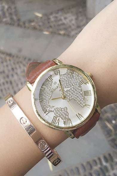 printed classy detail popular quartz flower wristwatches and alloy watches ladies watch for geneva chic product casual