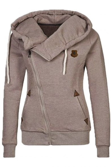 Women's Full Zip-up Hoodie Sweatshirt Top