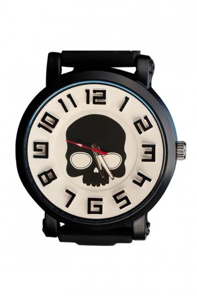 Fashion Women's Skull Leather Quartz Watch