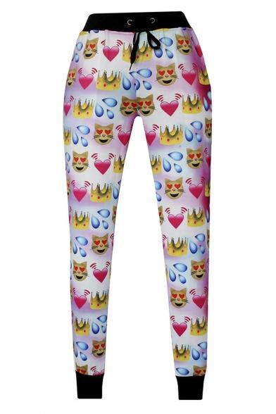 3D Emoji Printed Teen Jogger Pants Sweatpants Track Suit S-XL