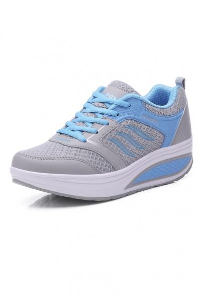 New Arrival Women's Sneakers Color Block Lace Up Platform Sport Shoes