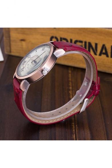 New Arrival Women's Vintage Style Map Dial Quartz Watch
