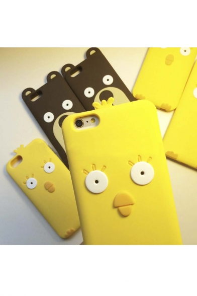 Fashion Cute Cartoon Chicken Bear Soft Silicone Case Cover for iPhone 5/5S iPhone 6 iPhone 6 Plus