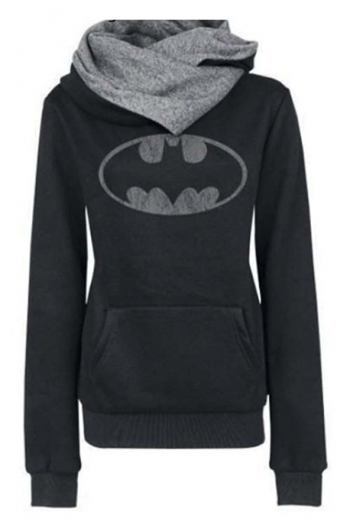 Women's Fashion Scarf Neck Tops Hoodies Tees Sweatshirt