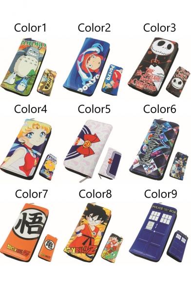 Anime My Neighbor Totoro Long Zipper Wallet Purse PU Wallet