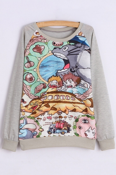 Women's Long Sleeve My Neighbor Totoro Sweatshirt Pullover Shirt Tops
