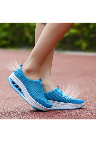 New Arrival Women's Fashion Breathable Sneakers Hollow Platform Sport Shoes