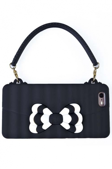 New Fashion Cute Bow Bag Design Silicone Phone Case for iPhone 6/6S(4.7/5.5)
