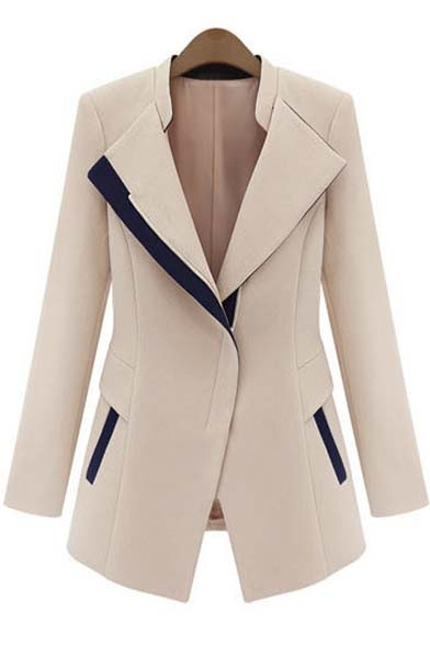 Women's Design Color Coat Faux Sleeve Hooded Long Block Twinset rrBq4g