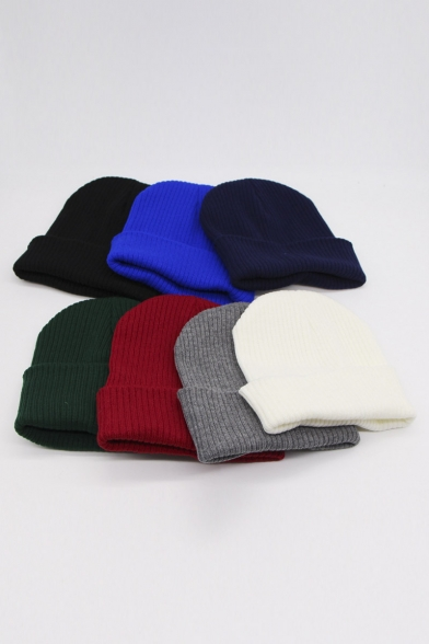Unisex Warm Winter Hat Knit Beanie Skull Cap Cuff Beanie Hat Winter Hats