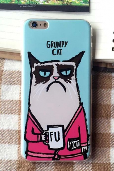 Fashionable GRUMPY CAT TPU Phone Cases for iPhone 6/6S(4.7/5.7) iPhone 5/5S/5SE