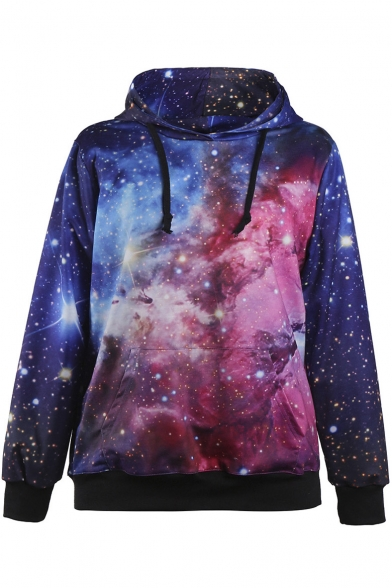 Women Sports Neon Galaxy Pullover Hoodie Sweatshirts ...
