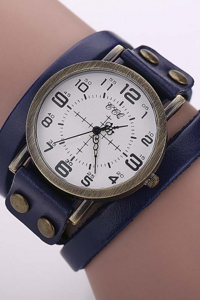 New Arrival Vintage Style Leather Band Quartz Watch