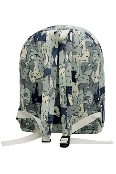 Fashionable Cute Cat Print Canvas Backpack School Bag/Travel Bag