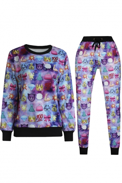 3D Emoji Printed Teen Jogger Pants Sweatpants Sweatshirts S-XL