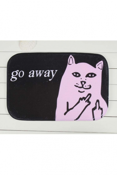 New Arrival Fashion Middle Finger Cat Go Away Doormat