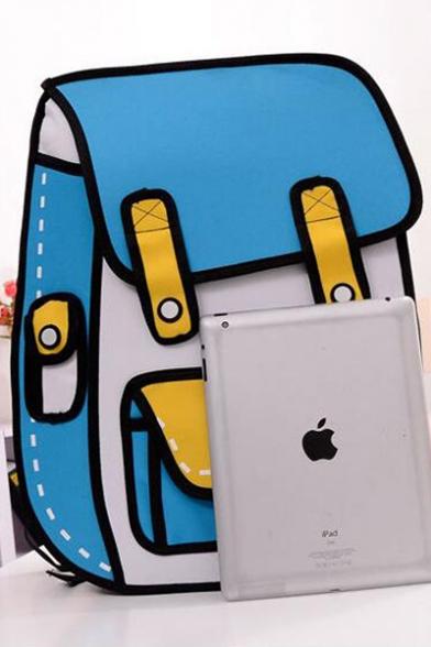 Fashionable Cartoon Color Block Backpack School Bag/Travel Bag