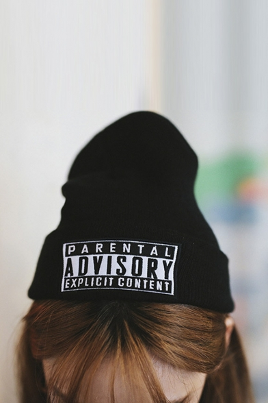 1f5c17acbfc47 New Arrival PARENTAL ADVISORY EXPLICIT LYRICS Hip Hop Beanies Skullies Cap  ...