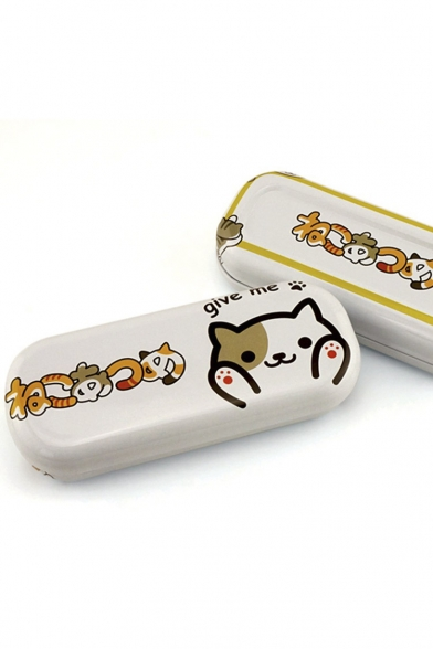 Women's Cute Kitty Backyard Anime Glasses Box