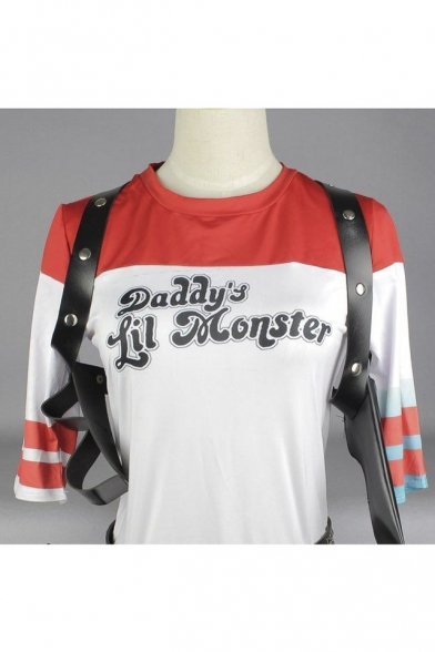 Suicide Squad Harley Quinn cosplay costume Only T-shirt white