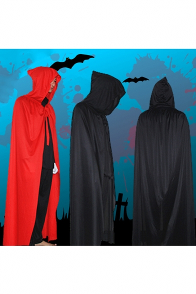 2016 Unisex Halloween Cape Cosplay Clothing Black Cloak Death Vampires Cloak Wizard Magic Robes