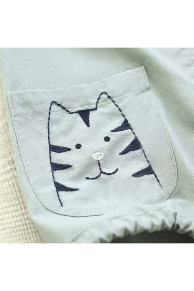 New Arrival Fashion Animal Pocket Long Sleeve Hooded Coat