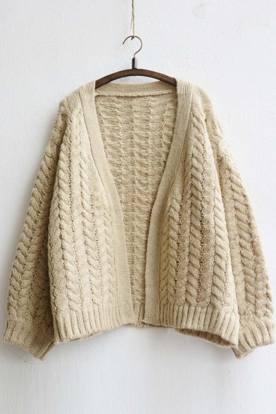 2016 New Arrival Open-Front Batwing Sleeve Cardigan