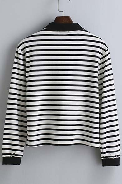 Fall New Lapel Arrival Striped shirt Long Sleeve T Spring TrT5Ydq