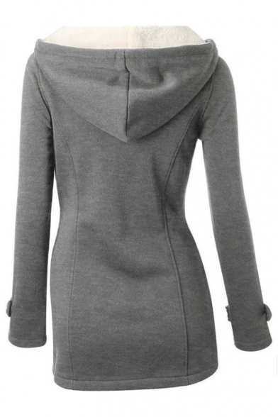 Women's Wool Blended Classic Pea Coat Jacket
