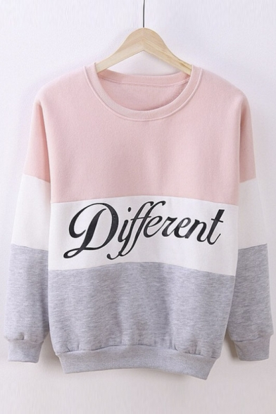 Pullover Mix Diffferent Printed Sweater Color Letters Hoodies Cute 1w4nfxqFn